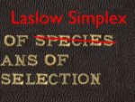 The Origin of Laslow Simplex by Means of Natural Selection